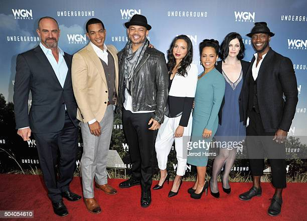 Actors Christopher Meloni and Alano Miller executive producer/director Anthony Hemingway actors Jurnee SmollettBell Amirah Vann Jessica de Gouw and...