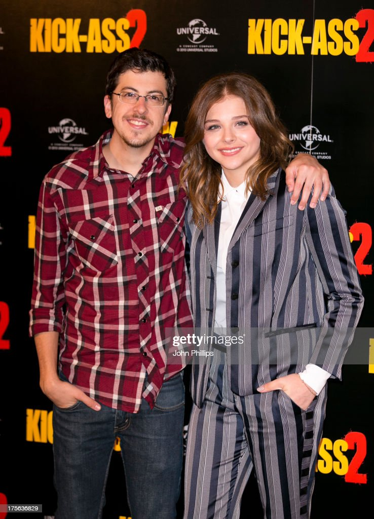 Actors Christopher Mintz Plasse and Chloe Grace Moretz attend the Kick-Ass 2 photocall on August 5, 2013 in London, England.
