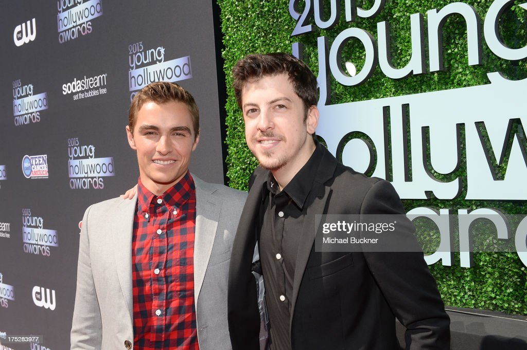 Actors <a gi-track='captionPersonalityLinkClicked' href=/galleries/search?phrase=Christopher+Mintz-Plasse&family=editorial&specificpeople=4326251 ng-click='$event.stopPropagation()'>Christopher Mintz-Plasse</a> (R) and <a gi-track='captionPersonalityLinkClicked' href=/galleries/search?phrase=Dave+Franco&family=editorial&specificpeople=5512906 ng-click='$event.stopPropagation()'>Dave Franco</a> attend CW Network's 2013 Young Hollywood Awards presented by Crest 3D White and SodaStream held at The Broad Stage on August 1, 2013 in Santa Monica, California.