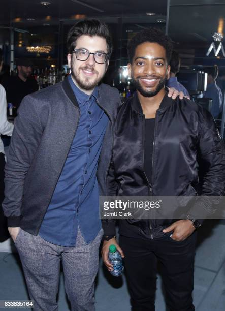 Actors Christopher MintzPlasse and Shaun Brown attend Turner Ignite Sports Luxury Lounge on February 4 2017 in Houston Texas