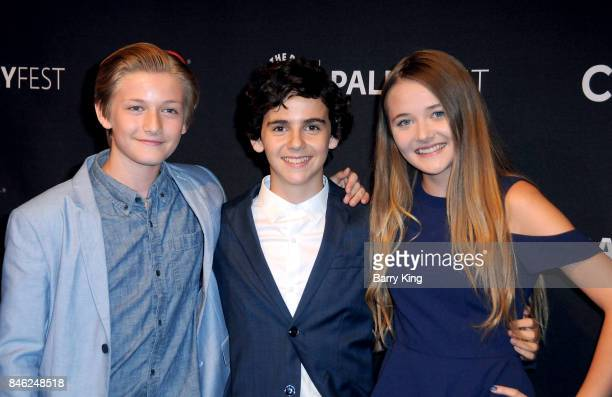 Actors Christopher Paul Jack Dylan Grazer and actress Reylynn Caster attend The Paley Center For Media's 11th Annual PaleyFest Fall TV Previews Los...