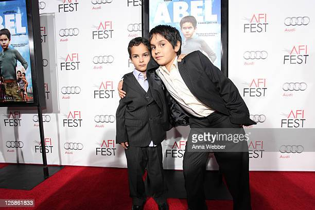 Actors Christopher RuizEsparza and Gerard RuizEsparza arrive to the AFI Fest 2010 Screening Of 'Abel' Red Carpet at Grauman's Chinese Theatre on...