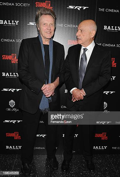 Actors Christopher Walken and Alan Arkin attend the premiere of 'Stand Up Guys' hosted by The Cinema Society with Chrysler and Bally at MOMA on...
