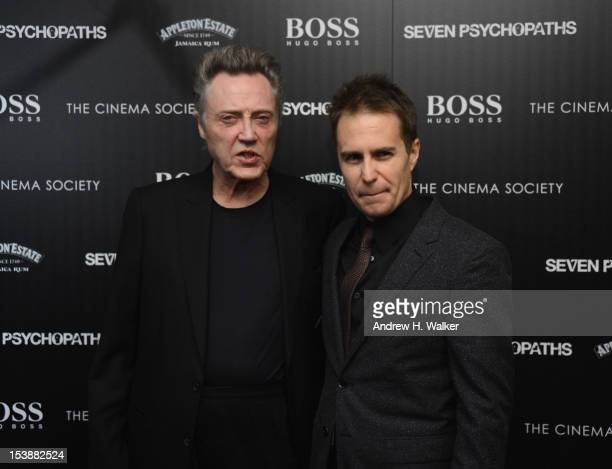 Actors Christopher Walken and Sam Rockwell attend The Cinema Society with Hugo Boss and Appleton Estate screening of 'Seven Psychopaths' at Clearview...