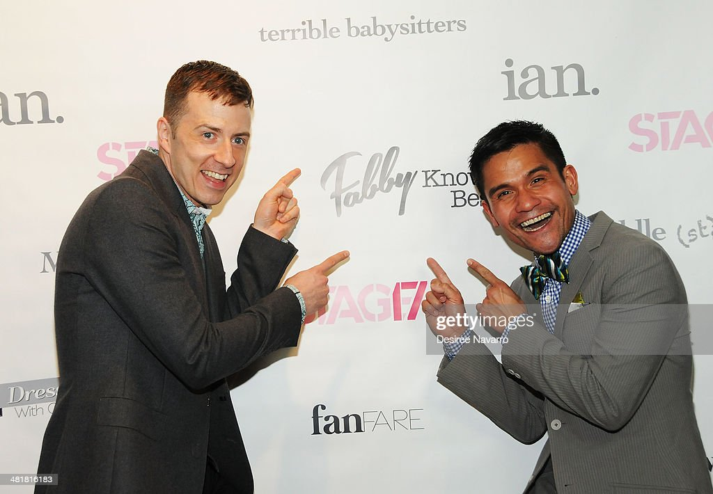 Actors Chuck Ragsdale (L) and Gerard Salvador attend the Stage17 Premiere at Walter Reade Theater on March 31, 2014 in New York City.