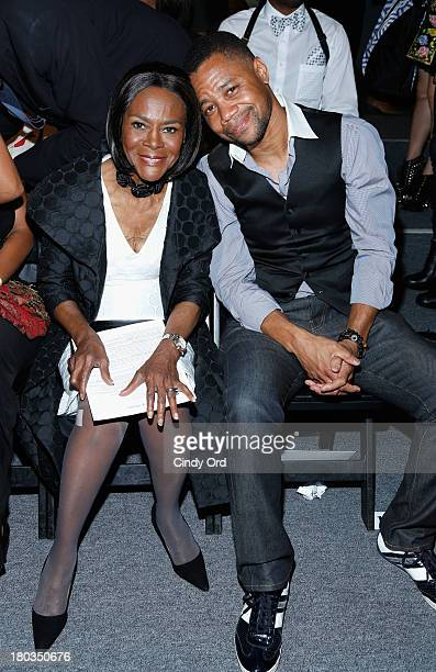 Actors Cicely Tyson and Cuba Gooding Jr attend the B Michael America fashion show during MercedesBenz Fashion Week Spring 2014 at The Studio at...
