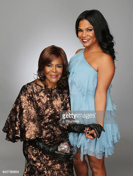 Actors Cicely Tyson and Nia Long pose for a portrait for BET's 2017 American Black Film Festival Honors Awards at The Beverly Hilton Hotel on...