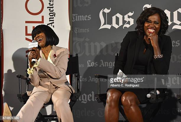 Actors Cicely Tyson and Viola Davis attend The LA Times' Envelope screening of 'How To Get Away With Murder' at ArcLight Sherman Oaks on May 26 2015...
