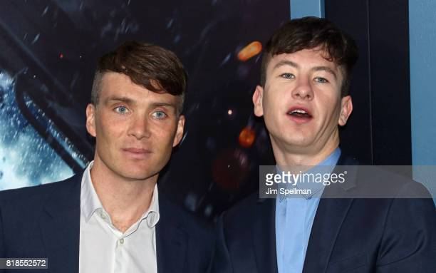 Actors Cillian Murphy and Barry Keoghan attend the 'DUNKIRK' New York premiere at AMC Lincoln Square IMAX on July 18 2017 in New York City