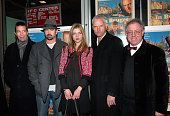 Actors Ciran Hinds and Colin Farrell actress Clemence Poesy writer/director Martin McDonagh and CEO of Focus Features James Schamus attend the...