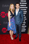Actors Claire Danes and Hugh Dancy attend Showtime 2014 Emmy Eve at Sunset Tower on August 24 2014 in West Hollywood California