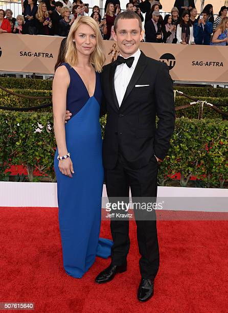 Actors Claire Danes and Hugh Dancy attend the 22nd Annual Screen Actors Guild Awards at The Shrine Auditorium on January 30 2016 in Los Angeles...