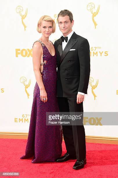 Actors Claire Danes and Hugh Dancy attend the 67th Annual Primetime Emmy Awards at Microsoft Theater on September 20 2015 in Los Angeles California
