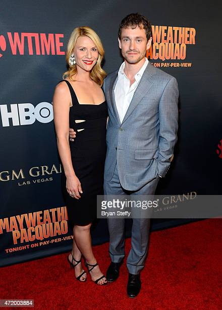 Actors Claire Danes and Hugh Dancy attend the SHOWTIME And HBO VIP PreFight Party for 'Mayweather VS Pacquiao' at MGM Grand Hotel Casino on May 2...