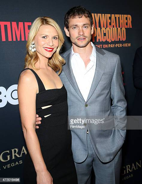 Actors Claire Danes and Hugh Dancy attend the SHOWTIME And HBO VIP PreFight Party for 'Mayweather VS Pacquiao'at MGM Grand Hotel Casino at on May 2...