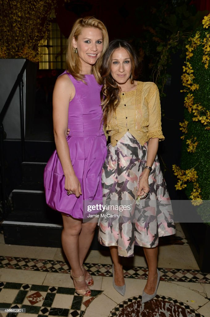 Actors Claire Danes and Sarah Jessica Parker attend Variety Power Of Women New York presented by FYI at Cipriani 42nd Street on April 25 2014 in New...