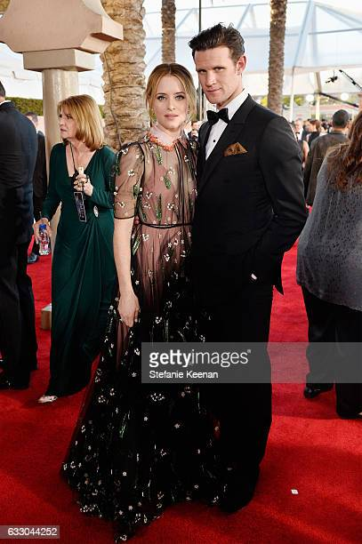 Actors Claire Foy and Matt Smith attend The 23rd Annual Screen Actors Guild Awards at The Shrine Auditorium on January 29 2017 in Los Angeles...