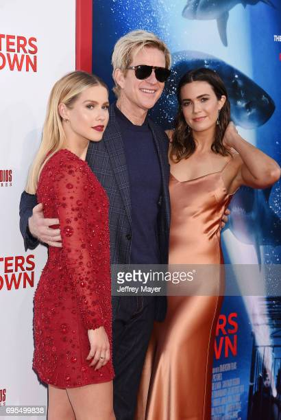 Actors Claire Holt Matthew Modine and Mandy Moore attend the Premiere Of Dimension Films' '47 Meters Down' at Regency Village Theatre on June 12 2017...