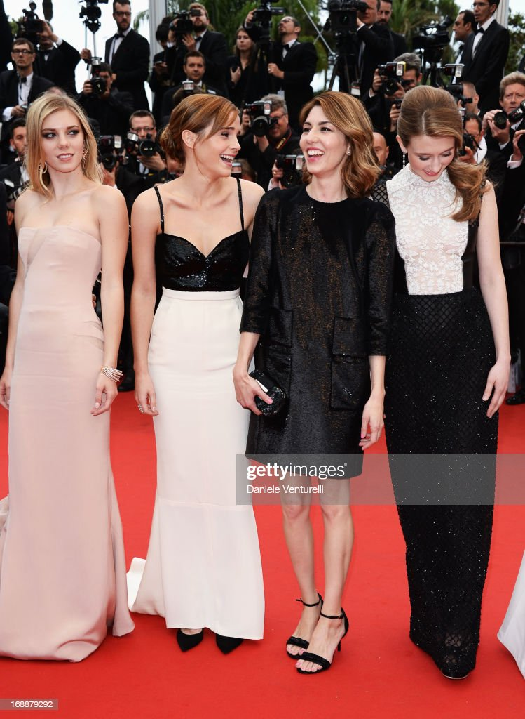 Actors Claire Julien, Emma Watson, director Sofia Coppola and actress Taissa Fariga attend the Premiere of 'The Bling Ring' at The 66th Annual Cannes Film Festival at Palais des Festivals on May 16, 2013 in Cannes, France.
