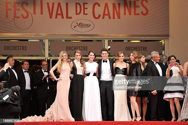 Actors Claire Julien Taissa Fariga Katie Chang Israel Broussard Emma Watson and director Sophia Coppola attend 'The Bling Ring' premiere during The...