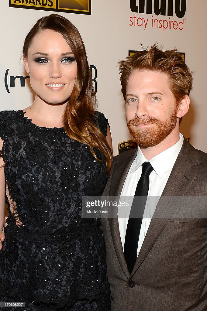 Actors Clare Grant and Seth Green arrive at Broadcast Television Journalists Association's third annual Critics' Choice Television Awards at The Beverly Hilton Hotel on June 10, 2013 in Los Angeles, California.