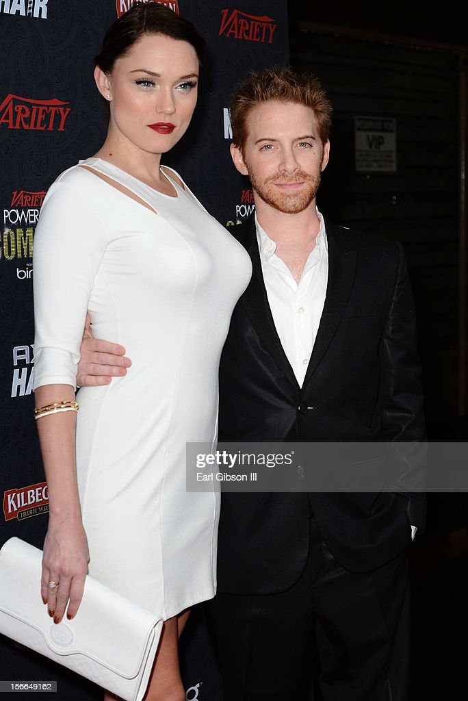 Actors <a gi-track='captionPersonalityLinkClicked' href=/galleries/search?phrase=Clare+Grant&family=editorial&specificpeople=4122159 ng-click='$event.stopPropagation()'>Clare Grant</a> and <a gi-track='captionPersonalityLinkClicked' href=/galleries/search?phrase=Seth+Green&family=editorial&specificpeople=206390 ng-click='$event.stopPropagation()'>Seth Green</a> arrive at Variety's 3rd annual Power of Comedy event presented by Bing benefiting the Noreen Fraser Foundation held at Avalon on November 17, 2012 in Hollywood, California.