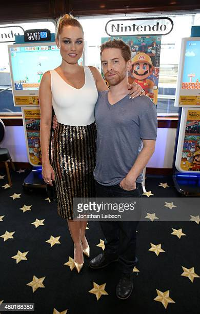 Actors Clare Grant and Seth Green attend The Nintendo Lounge on the TV Guide Magazine yacht during ComicCon International 2015 on July 9 2015 in San...