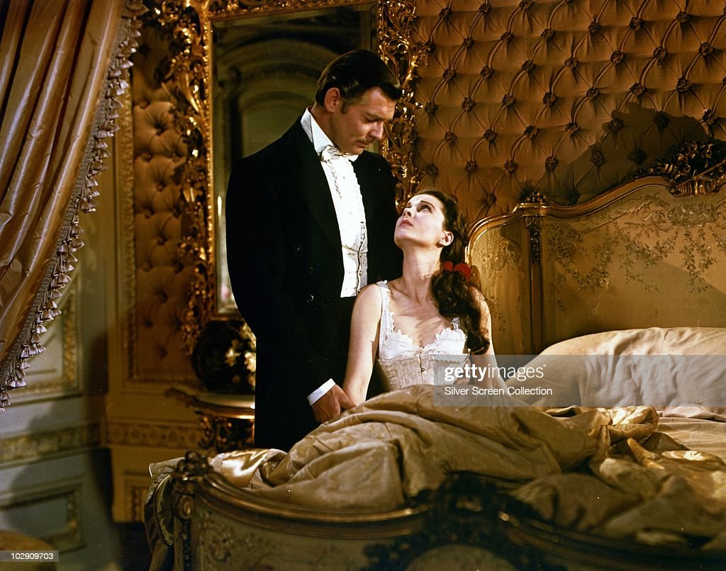 Actors Clark Gable (1913 - 1967) and Vivien Leigh as Rhett Butler and Scarlett O'Hara (1901 - 1960) in the film 'Gone with the Wind', 1939.
