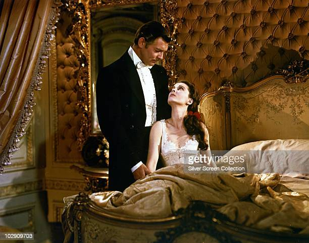 Actors Clark Gable and Vivien Leigh as Rhett Butler and Scarlett O'Hara in the film 'Gone with the Wind' 1939