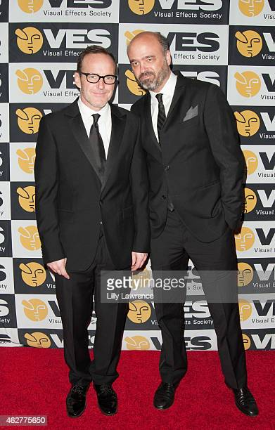Actors Clark Gregg and Scott Adsit arrive at The 13th Annual VES Awards Arrivals at The Beverly Hilton Hotel on February 4 2015 in Beverly Hills...