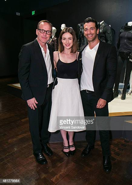 Actors Clark Gregg Elizabeth Henstridge and Simon Kassianides attend the 9th Annual Outstanding Art Of Television Costume Design reception and...