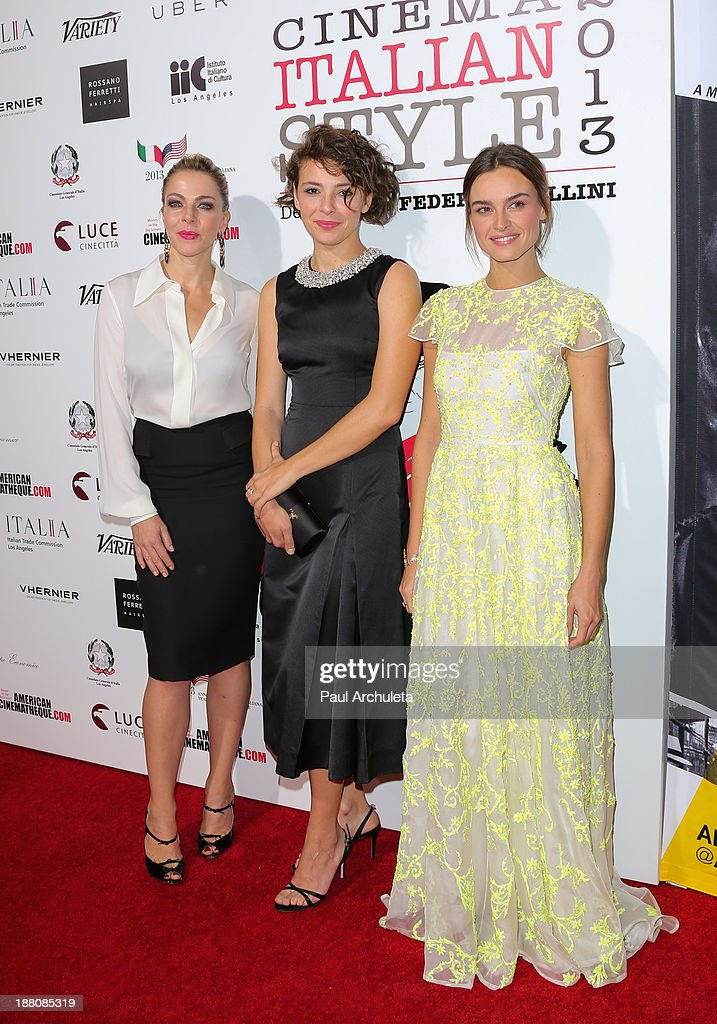 Actors Claudia Gerini, Jasmine Trinca and Kasia Smutniak attend the premiere of 'The Great Beauty' at the Cinema Italian Style 2013 Opening Night at the Egyptian Theatre on November 14, 2013 in Hollywood, California.