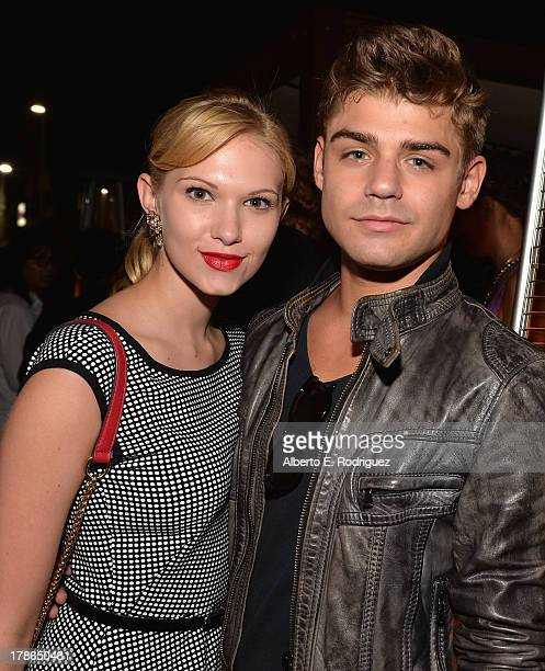 Actors Claudia Lee and Garrett Clayton attend Genlux Magazine's Issue Release party featuring Erika Christensen at The Sofitel Hotel on August 29...