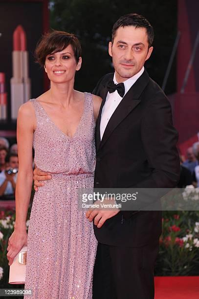 Actors Claudia Pandolfi and Filippo Timi attend the 'Quando la notte' Premiere during the 68th Venice International Film Festival at Palazzo del...