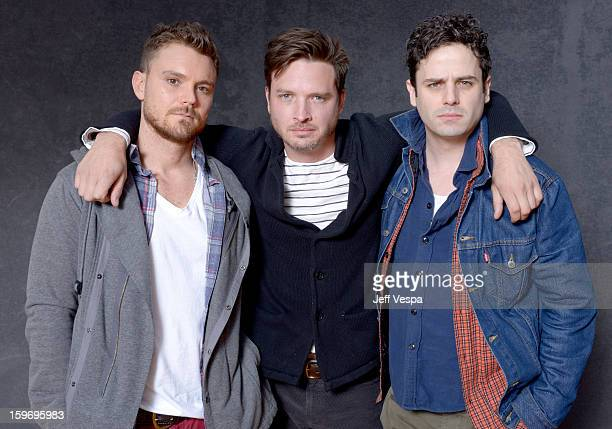 Actors Clayne Crawford Aden Young and Luke Kirby pose for a portrait during the 2013 Sundance Film Festival at the WireImage Portrait Studio at...