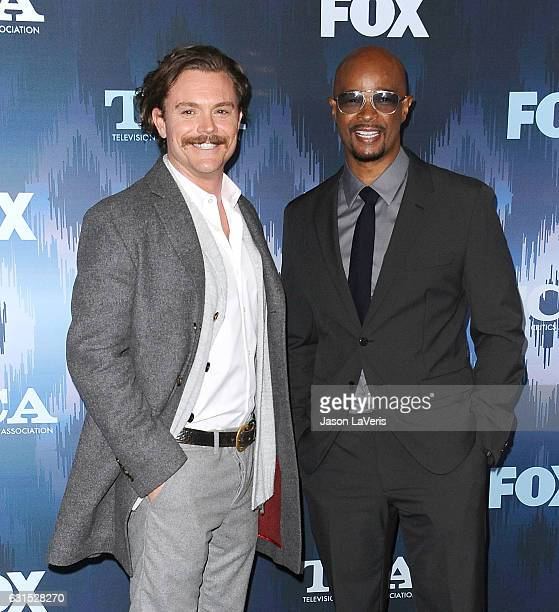 Actors Clayne Crawford and Damon Wayans attend the 2017 FOX AllStar Party at Langham Hotel on January 11 2017 in Pasadena California