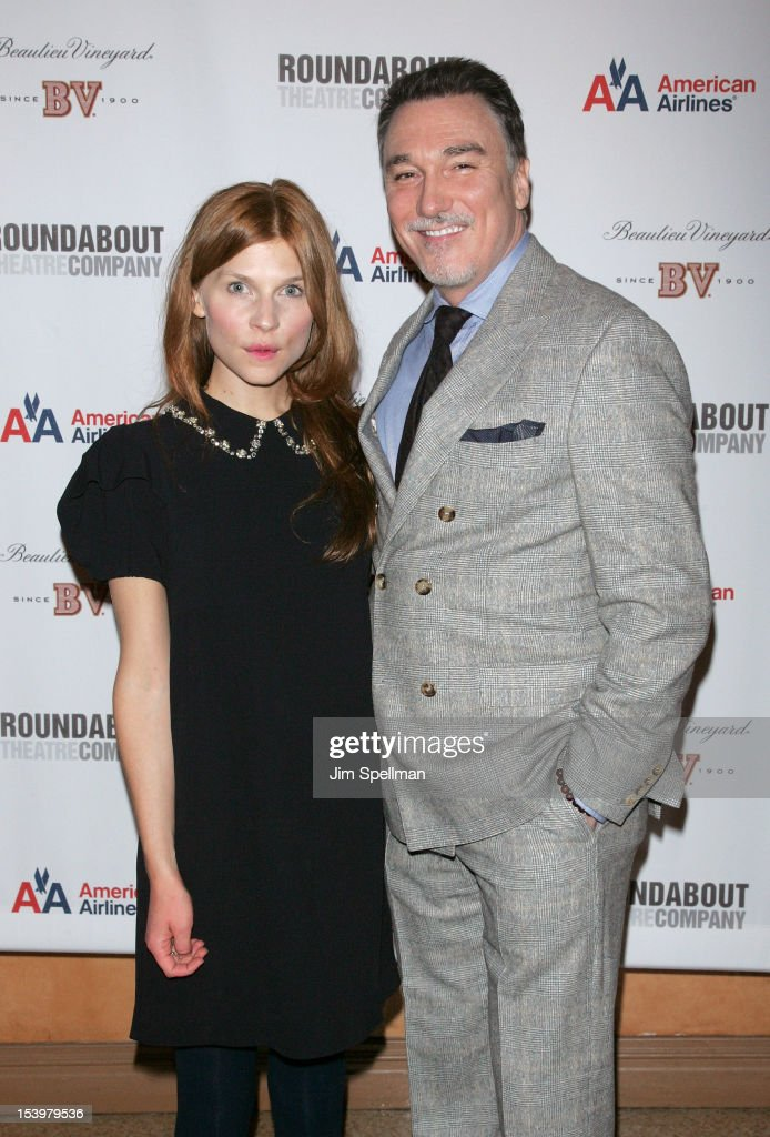 Actors <a gi-track='captionPersonalityLinkClicked' href=/galleries/search?phrase=Clemence+Poesy&family=editorial&specificpeople=765034 ng-click='$event.stopPropagation()'>Clemence Poesy</a> and Patrick Page attend 'Cyrano De Bergerac' Broadway Opening Night After Party at American Airlines Theatre on October 11, 2012 in New York City.