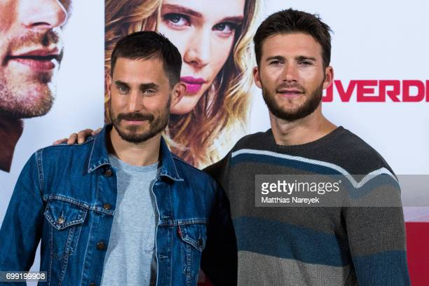 Actors Clemens Schick and Scott Eastwood attend the 'Overdrive' Photo Call at Hotel De Rome on June 21 2017 in Berlin Germany