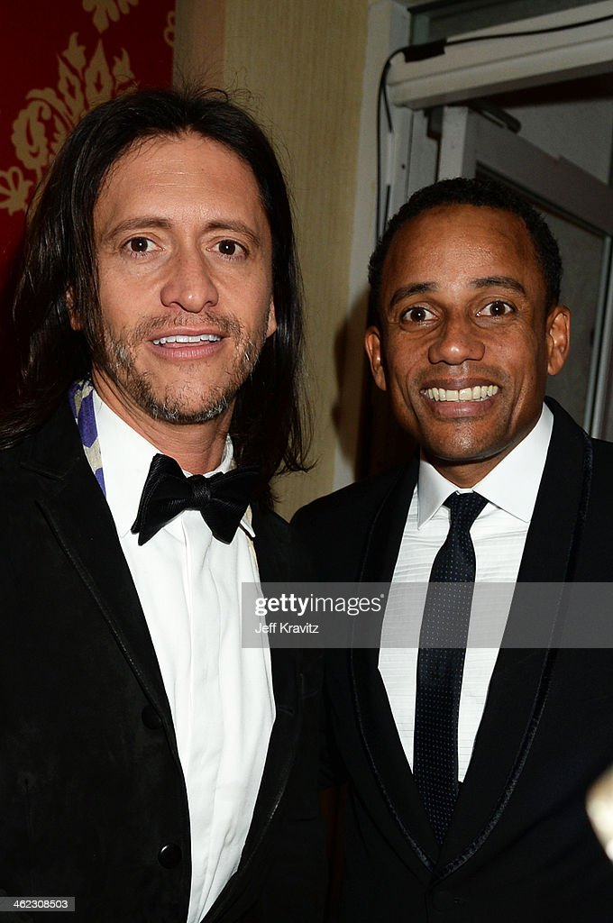 Actors Clifton Collins, Jr. (L) and Hill Harper attend HBO's Official Golden Globe Awards After Party at The Beverly Hilton Hotel on January 12, 2014 in Beverly Hills, California.