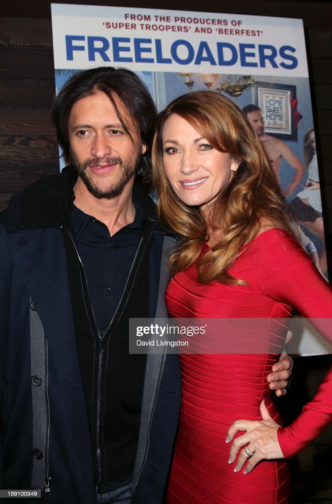 Actors <a gi-track='captionPersonalityLinkClicked' href=/galleries/search?phrase=Clifton+Collins+Jr.&family=editorial&specificpeople=540063 ng-click='$event.stopPropagation()'>Clifton Collins Jr.</a> (L) and Jane Seymour attend the premiere of Salient Media's 'Freeloaders' at Sundance Cinema on January 7, 2013 in Los Angeles, California.