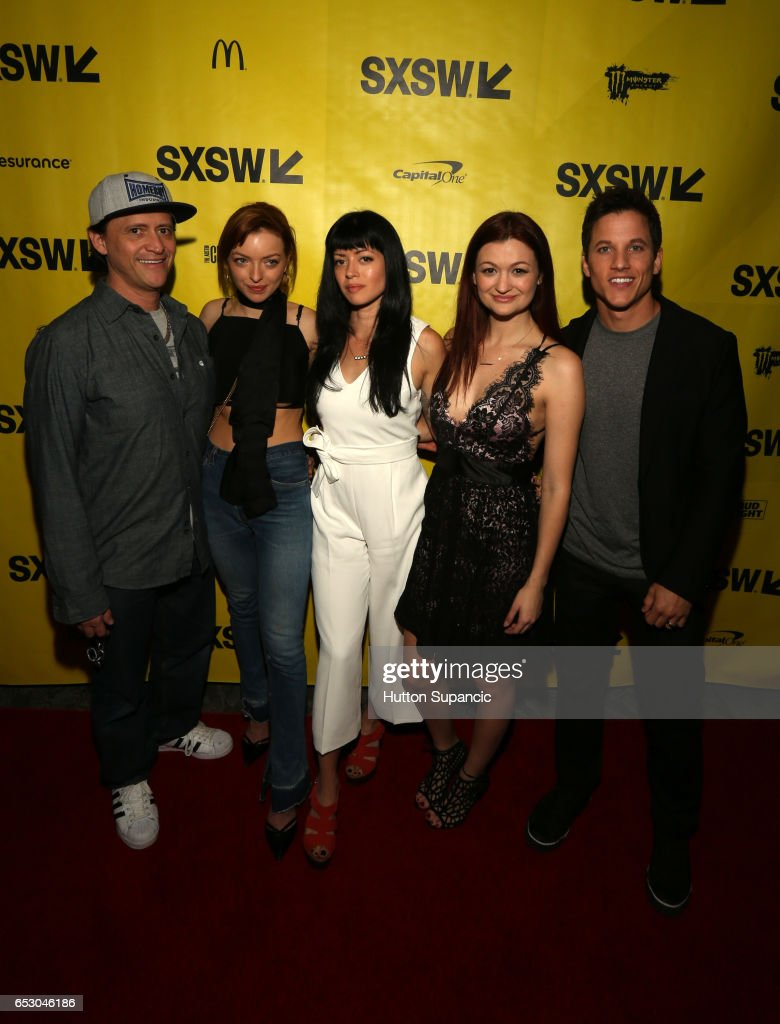 Actors Clifton Collins Jr., Francesca Eastwood, director Natalia Leite, actor Leah McKendrick and actor/producer Mike C. Manning attend the premiere of 'M.F.A.' during 2017 SXSW Conference and Festivals at Stateside Theater on March 13, 2017 in Austin, Texas.