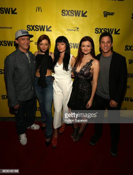 Actors Clifton Collins Jr Francesca Eastwood director Natalia Leite actor Leah McKendrick and actor/producer Mike C Manning attend the premiere of...