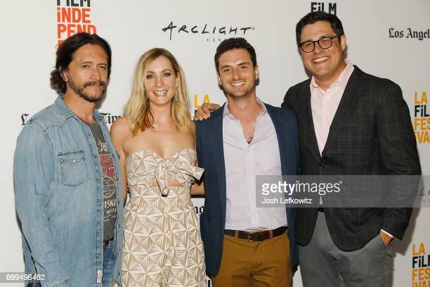 Actors Clifton Collins Jr Joanne Froggatt director Trevor White and actor Rich Sommer attend the screening of 'A Crooked Somebody' during the 2017...