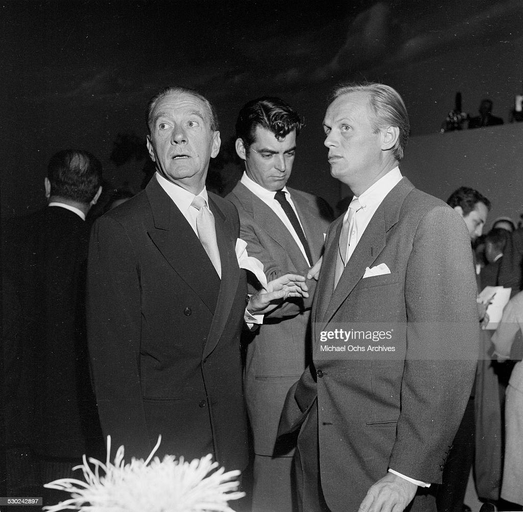 Actors Clifton Webb Rory Calhoun and Richard Widmark attend an event in Los AngelesCA