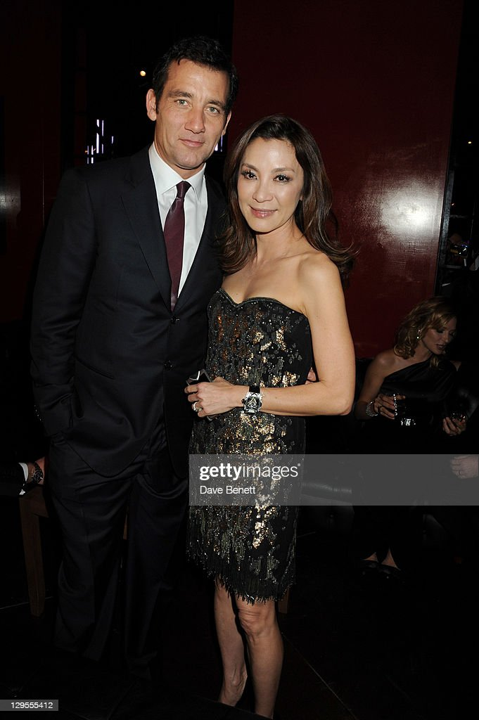 Actors Clive Owen and Michelle Yeoh attend the Vertu Global Launch Of The 'Constellation' at Palazzo Serbelloni on October 18 2011 in Milan Italy
