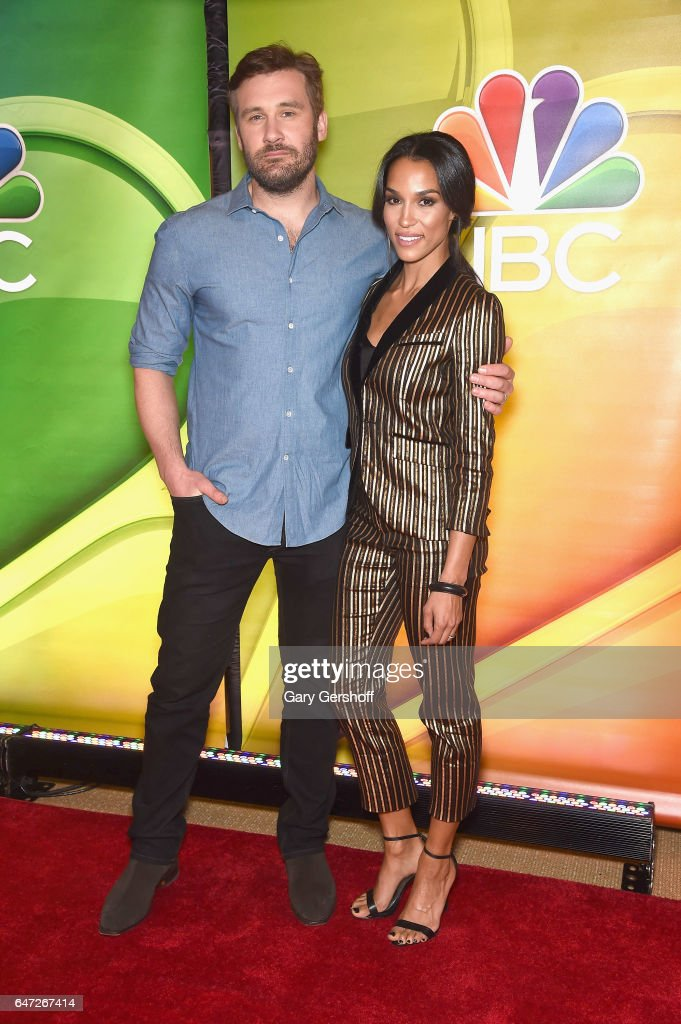 Actors Clive Standen and Brooklyn Sudano attend the NBCUniversal Press Junket at the Four Seasons Hotel New York on March 2, 2017 in New York City.