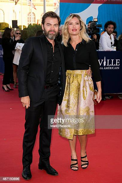 Actors Clovis Cornillac and Lilou Fogli attend the 'Jamais Entre Amis' Premiere during the 41st Deauville American Film Festival on September 6 2015...