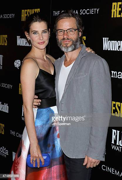 Actors Cobie Smulders and Guy Pearce attend Magnolia Pictures' 'Results' premiere hosted by The Cinema Society with Women's Health and FIJI Water at...