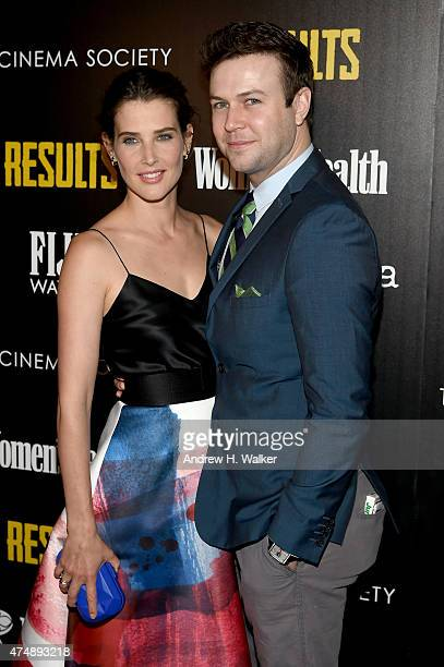 Actors Cobie Smulders and Taran Killam attend Magnolia Pictures' 'Results' premiere hosted by The Cinema Society with Women's Health and FIJI Water...