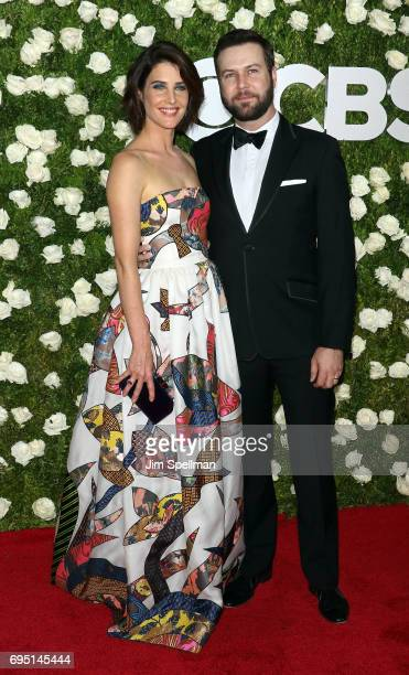 Actors Cobie Smulders and Taran Killam attend the 71st Annual Tony Awards at Radio City Music Hall on June 11 2017 in New York City